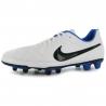 Nike Scarpe Calcio Tiempo V Rio FG Uomo White/Blk/Blue Uomo