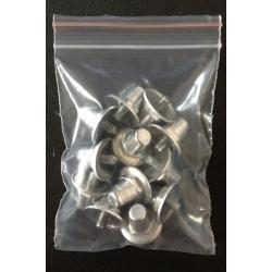 MincioSport Tacchetti Alluminio 14 mm con rondella conf. 12 pz