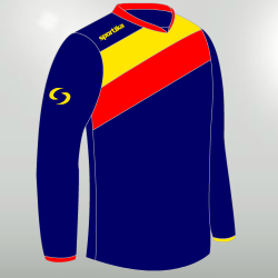 Sportika Maglia DRESDA ML Uomo Blu/Giallo/Rosso
