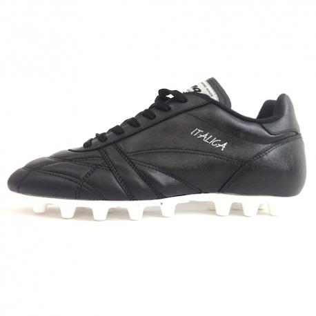 marchio famoso guarda bene le scarpe in vendita negozio Ryal Scarpe Calcio ITALICA FG Uomo Nero - dacosport.com