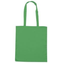 Borsa Shopping in Cotone Q24210 Verde Acido (Conf. 10 pezzi)