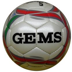 Gems Pallone Calcio OLIMPICO n.5 Bianco/Rosso