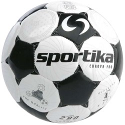Sportika Pallone Calcio EUROPA n.4 Bianco/Nero