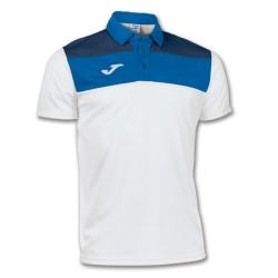 Joma 100246 Polo CREW Uomo Bianco/Azzurro/Blu