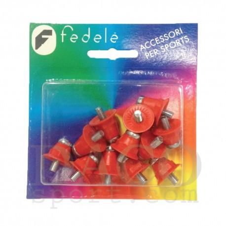 MincioSport Tacchetti Nylon Metallo Monocolore mm 13 16 rosso 0eada5f5e86
