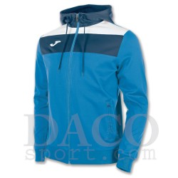 Joma Felpa Cappuccio CREW Uomo Azzurro/Bianco/Blu