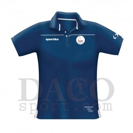 """Sportika Polo VENICE Blu Logo """"IL FARO - I.C. ZIPPILLI - LUCIDI"""""""