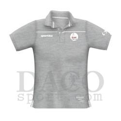 """Sportika Polo VENICE Grigio Logo """"IL FARO - I.C. ZIPPILLI - LUCIDI"""""""
